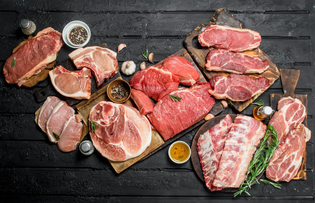Beef, Pork & Lamb display
